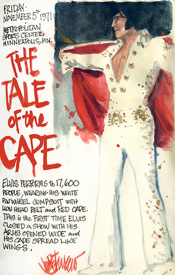 This Day in Elvis History 11-5-1971 THE TALE OF THE CAPE by Joe Petruc