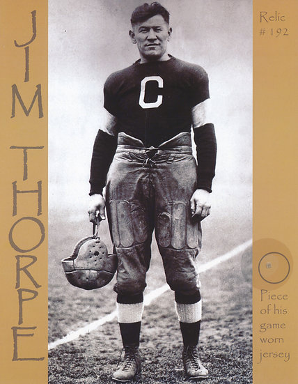 Todd Mueller Relic Card 192 - Jim Thorpe Game Worn Jersey