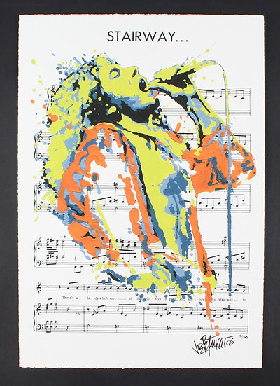 Robert Plant - STAIRWAY Limited Edition Fine Art Giclee on Sheet Music