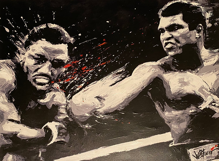 Muhammad Ali vs Joe Frazier THRILLA Artist Proof by Joe Petruccio