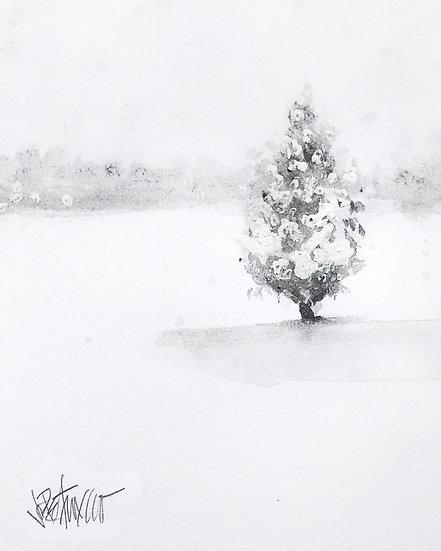 11 SNOW Original Ink on Paper by Joe Petruccio