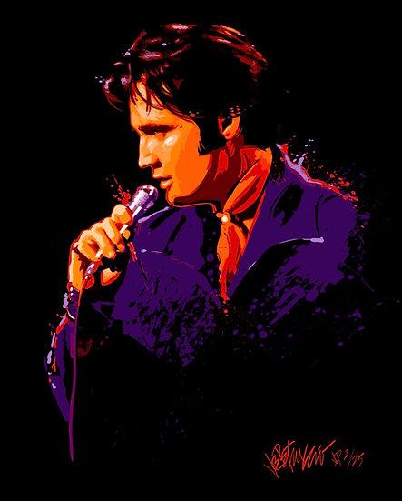 Elvis Presley SIDE OF TROUBLE Limited Edition Fine Art by Joe Petruccio