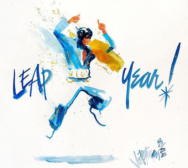 Elvis Presley - JUMP SUIT 2020 Original Watercolor on Paper by Joe Petruccio