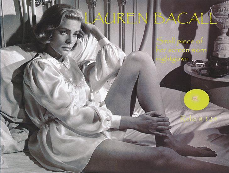 Todd Mueller Relic Card 124 - Lauren Bacall Screen Worn Nightgown