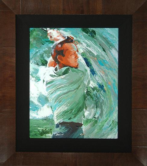 Arnold Palmer - SWING Original Acrylics on Canvas