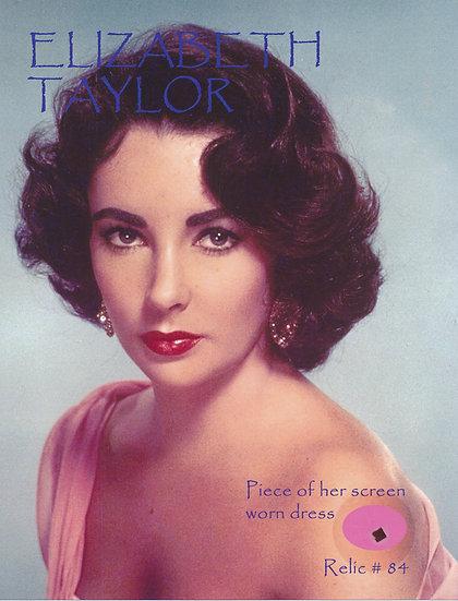 Todd Mueller Relic Card 084 - Elizabeth Taylor Screen Worn Dress