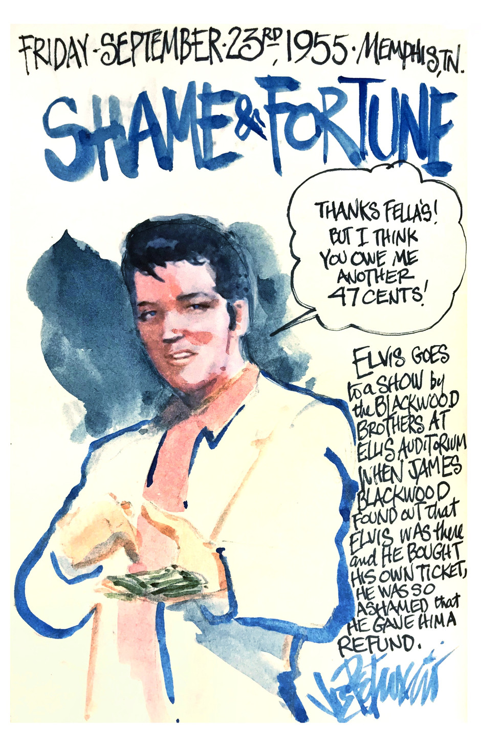 THIS DAY IN ELVIS HISTORY... SHAME and FORTUNE