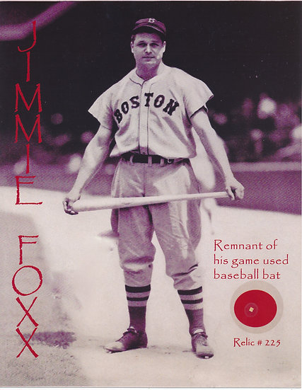 Todd Mueller Relic Card 225 - Jimmie Foxx Game Used Baseball Bat