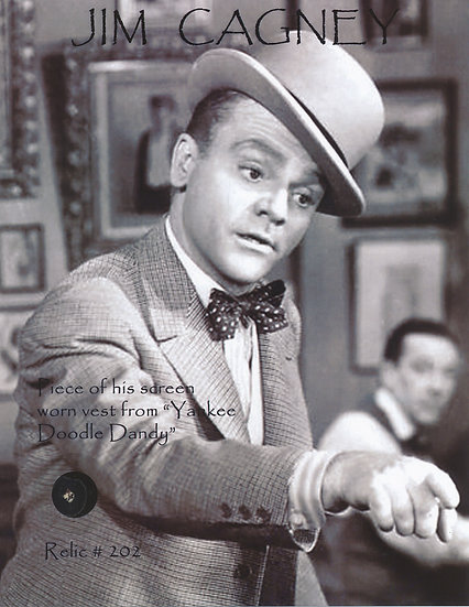 Todd Mueller Relic Card 202 - James Cagney Screen Worn Suit