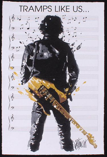 Bruce Springsteen - TRAMPS LIKE US Limited Edition Sheet Music by Joe Petruccio