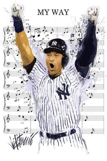 Derek Jeter - MY WAY Artist Proof Edition Yankees Sheet Music by Joe Petruccio