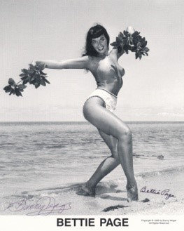 Bettie Page Autographed Bunny Yeager 8x10 1950s Pin-up Photo 014