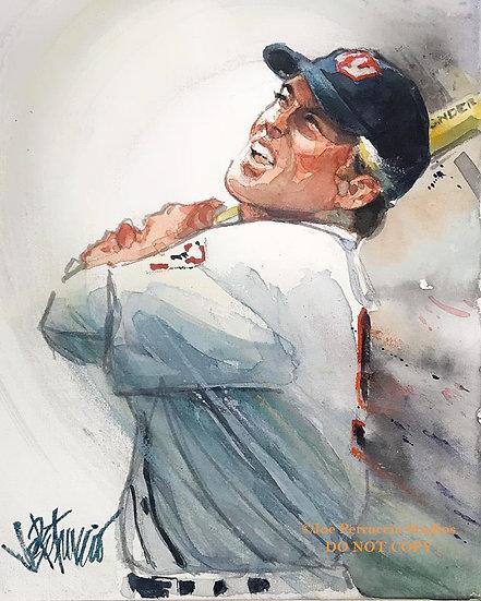 THE NATURAL Roy Hobbs Original Watercolor by Joe Petruccio