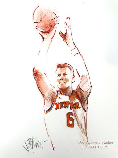 KP 6 - NY Knicks Original Ink on Paper by Joe Petruccio