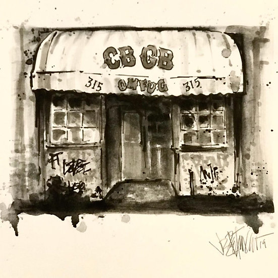 15 LEGEND Original Ink on Paper by Joe Petruccio - CBGB Music Club