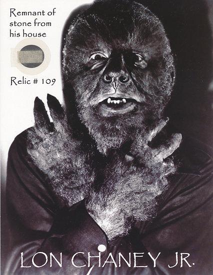 Todd Mueller Relic Card 109 - Lon Chaney Jr