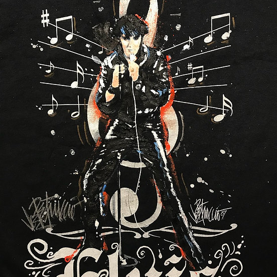 Elvis Presley - 68 COMEBACK Custom Painted T-Shirt 1/1
