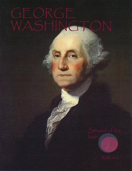 Todd Mueller Relic Card 001 - President George Washington Hair Strand