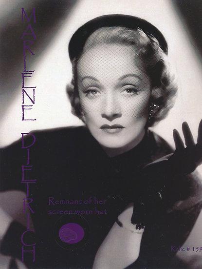 Todd Mueller Relic Card 159 - Marlene Dietrich Screen Worn Hat