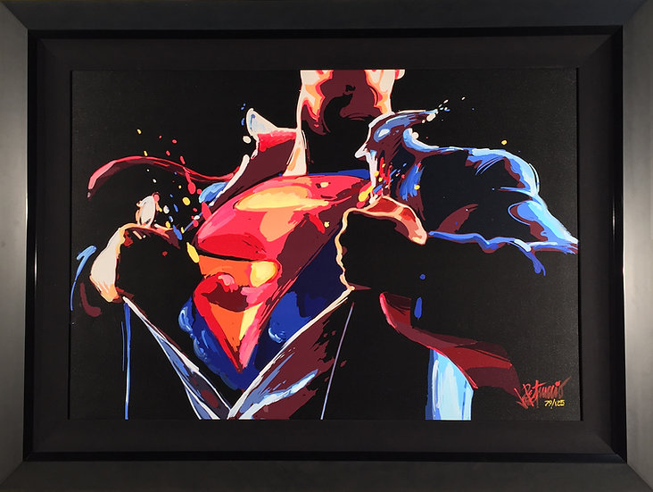 SUPERMAN: The Man of Steel Limited Edition Fine Art Giclee on Canvas (Deluxe)
