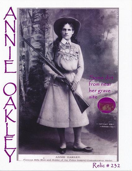 Todd Mueller Relic Card 232 - Annie Oakley Gravesite