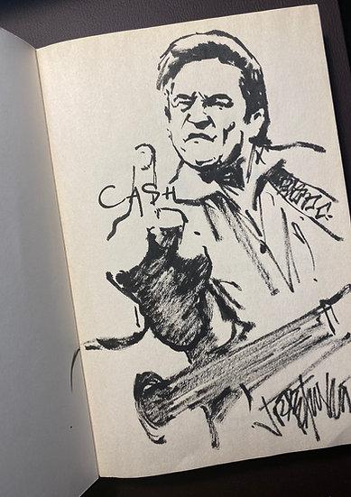 Johnny Cash THANK YOU NASHVILLE Original Ink by Joe Petruccio