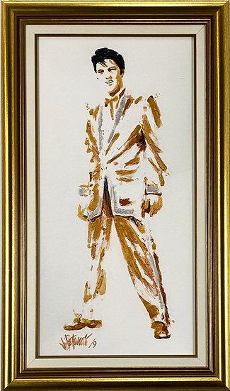 Elvis Presley GOLD LAMÉ Framed Limited Edition on Canvas by Joe Petruccio