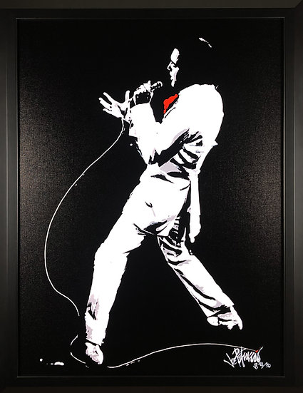 Elvis Presley IF I CAN DREAM Limited Edition Fine Art by Joe Petruccio