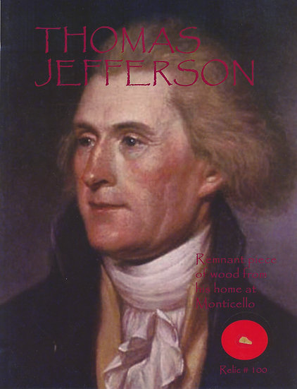 Todd Mueller Relic Card 100 - Thomas Jefferson Monticello