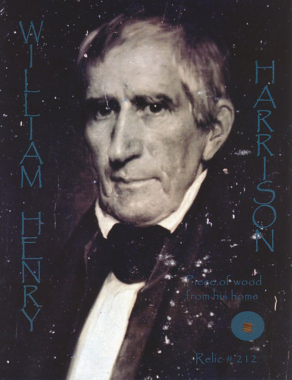 Todd Mueller Relic Card 212 - President William H. Harrison
