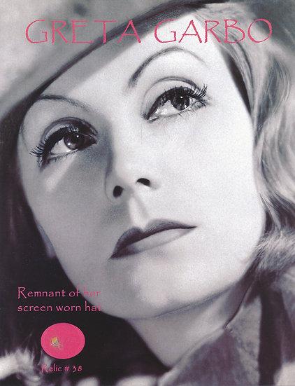Todd Mueller Relic Card 038 - Greta Garbo Screen Worn Hat