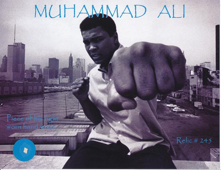 Todd Mueller Relic Card 245 - Muhammad Ali Fight Worn Handwrap