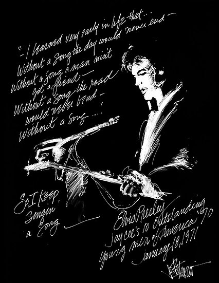 Elvis Presley WITHOUT A SONG Limited Edition Fine Art by Joe Petruccio
