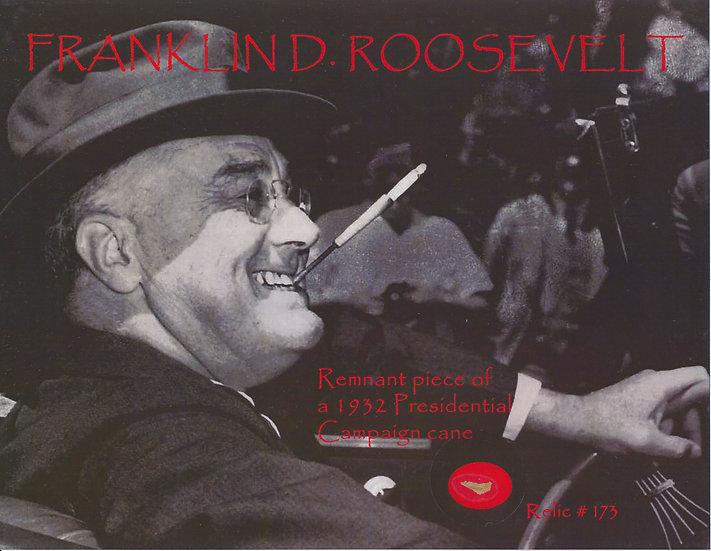 Todd Mueller Relic Card 173 - Franklin D. Roosevelt