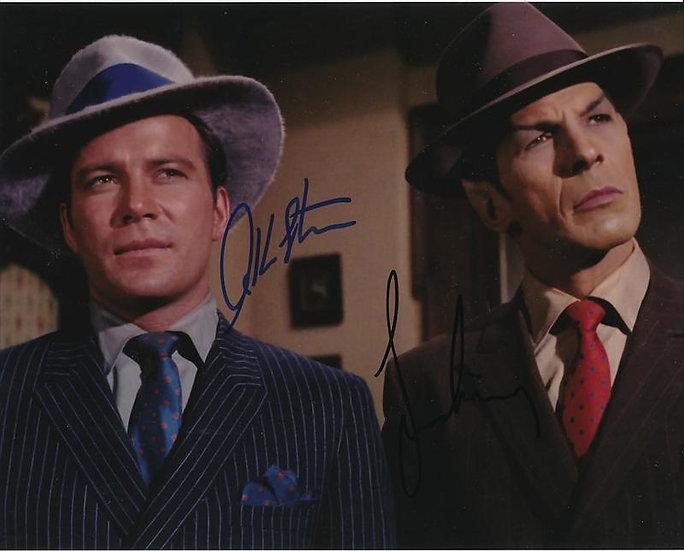 William Shatner and Leonard Nimoy Autographed Star Trek 1920s Suits 8x10 Photo
