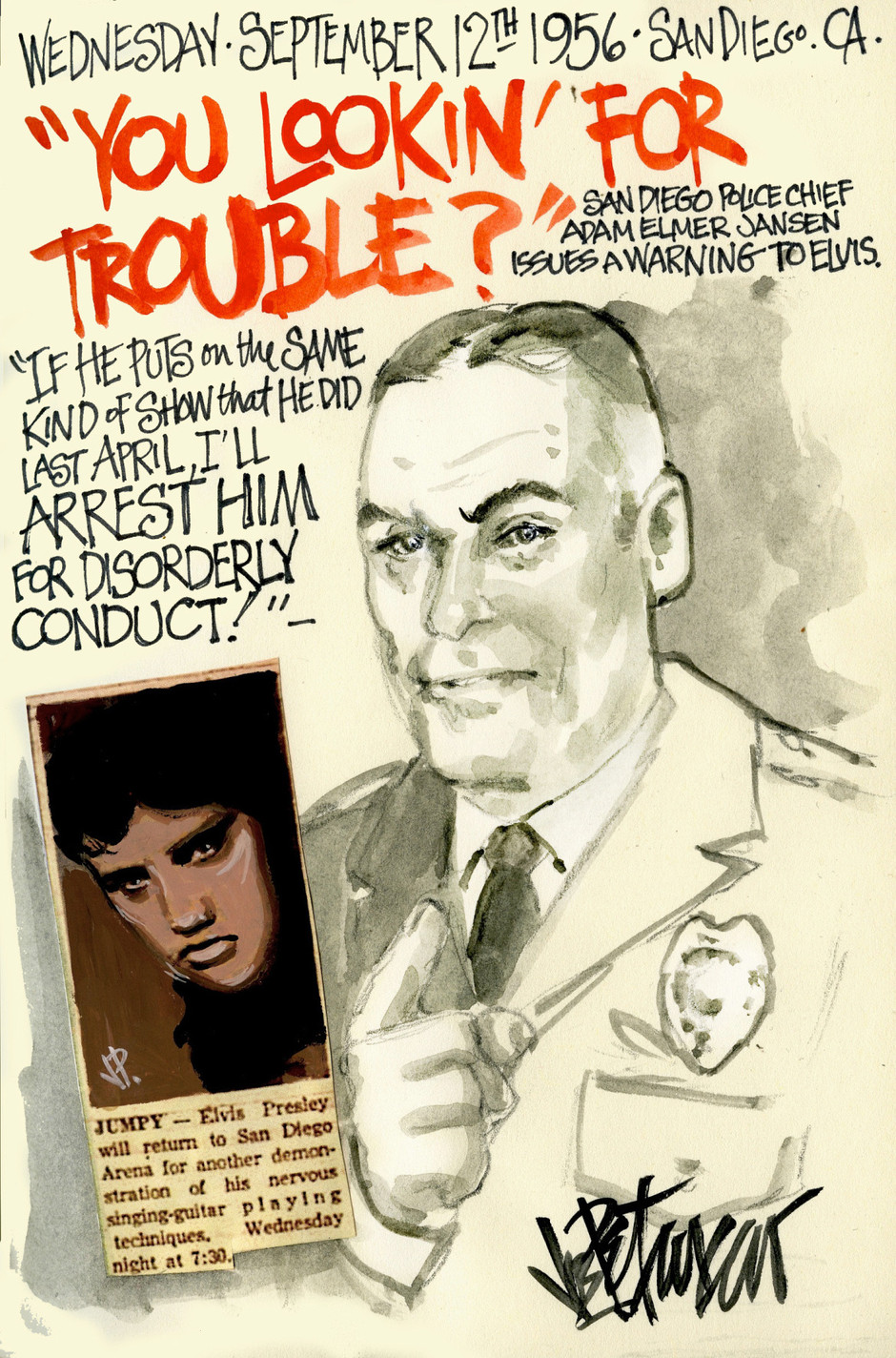 THIS DAY IN ELVIS HISTORY... YOU LOOKIN' FOR TROUBLE?