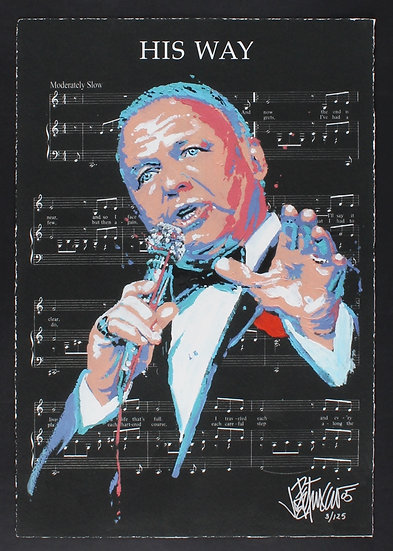 Frank Sinatra - HIS WAY Limited Edition Fine Art Giclee on Sheet Music