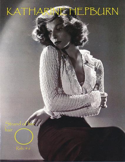 Todd Mueller Relic Card 006 - Katharine Hepburn Hair Strand