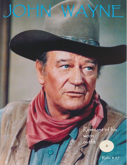 Todd Mueller Relic Card 057 - John Wayne Screen Worn Clothing
