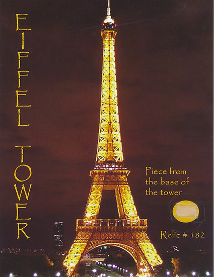 Todd Mueller Relic Card 182 - The Eiffel Tower