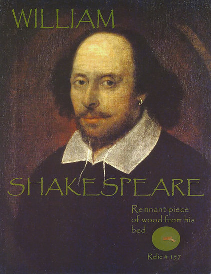 Todd Mueller Relic Card 157 - William Shakespeare