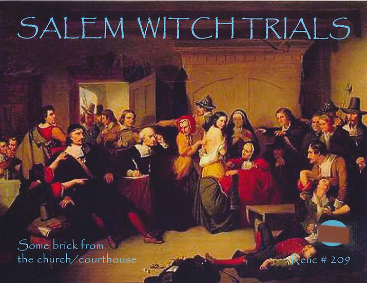 Todd Mueller Relic Card 209 - Salem Witch Trials Courthouse