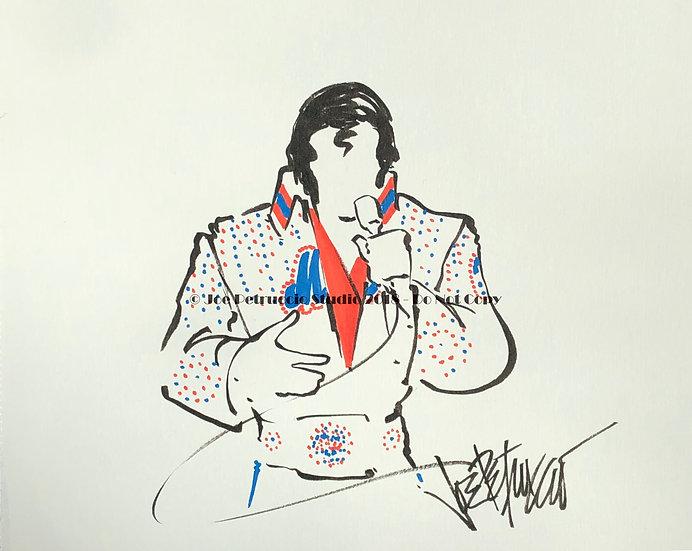 Elvis Presley Mets Jumpsuit Original by Joe Petruccio