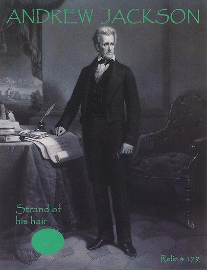 Todd Mueller Relic Card 179 - President Andrew Jackson