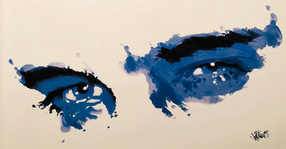 SURRENDER EYES Master Edition on Canvas by Joe Petruccio