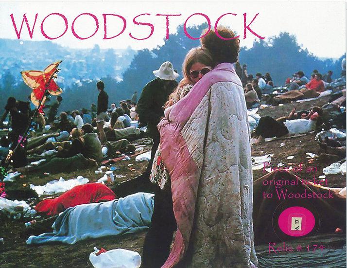 Todd Mueller Relic Card 174 - Woodstock Ticket