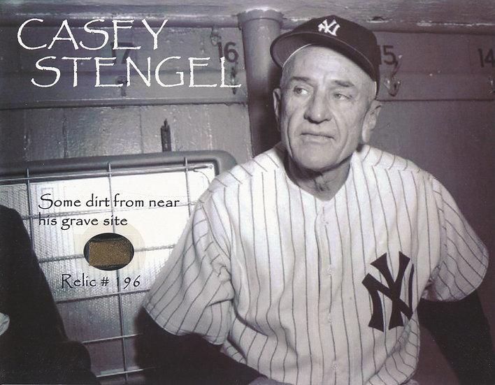 Todd Mueller Relic Card 196 - Casey Stengel Gravesite