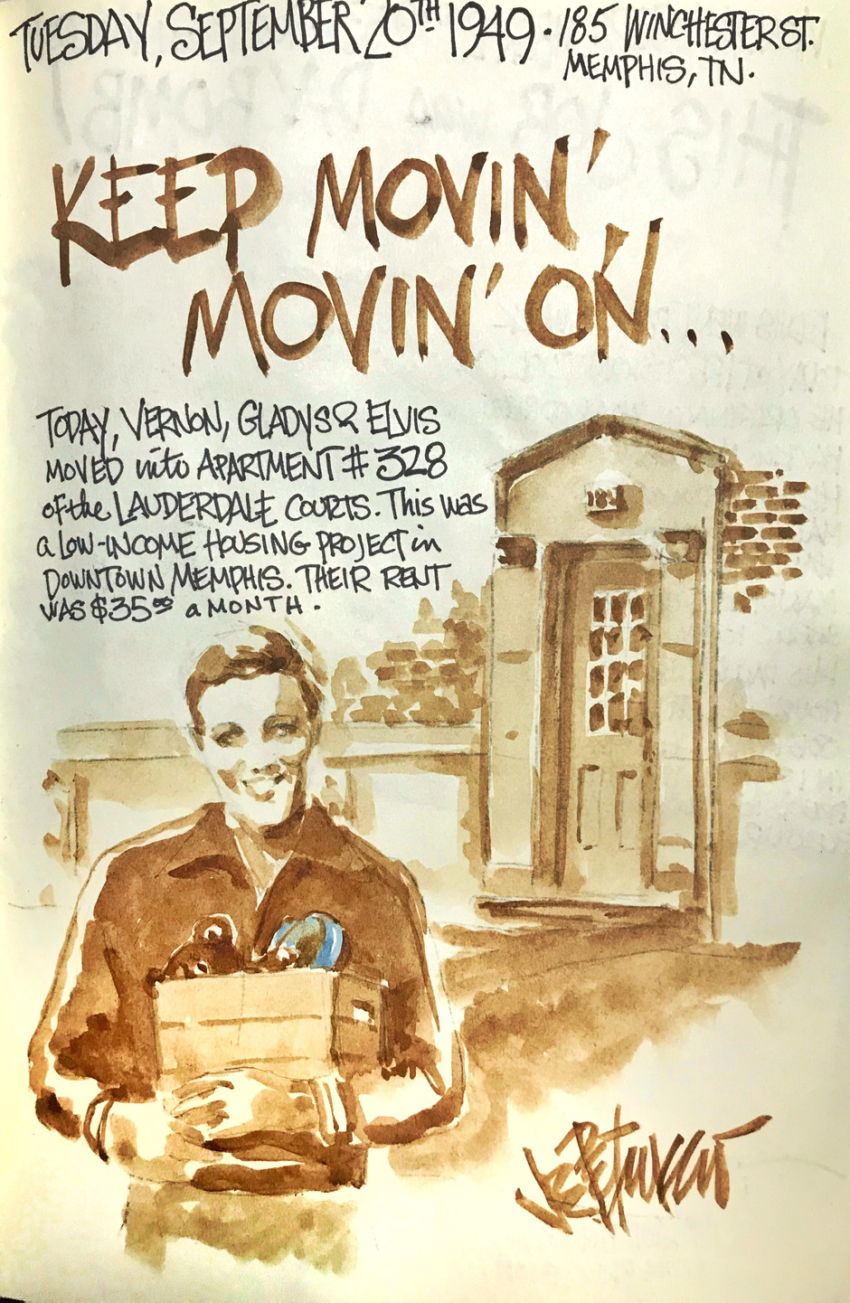 THIS DAY IN ELVIS HISTORY... KEEP MOVIN' ON
