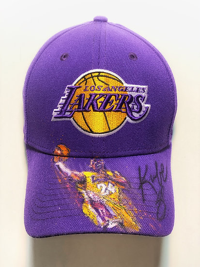 HATS OFF TO KOBE Bryant LA Lakers Cap Original Fine Art by Joe Petruccio