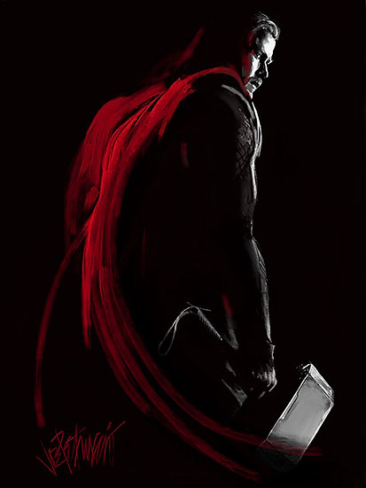 THOR: WORTHY Artist Proof Fine Art Giclee on Canvas (Deluxe)